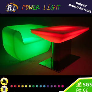 Outdoor&Indoor Color Changing Plastic Square LED Dining Table pictures & photos