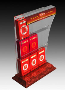 Custom Clear Acrylic Counter Cigarette Display Stand Manufacture pictures & photos
