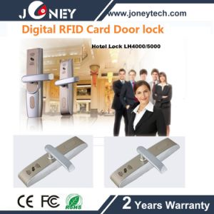 MIFARE Card Keyless RFID Hotel Door Lock with Mechanical Key pictures & photos