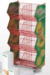 Mobile Promotional Stacking Wire Mesh Basket pictures & photos