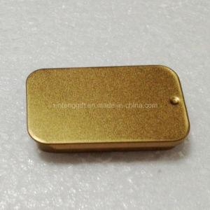 Golden Color Push and Pull Candy/Drug Tin pictures & photos