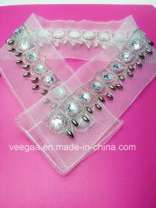 Ladies Apparel Accessrory Beaded Trim Handmade Beaded Collar