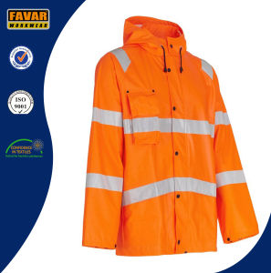 Waterproof Hi Vis Jackets 300d Oxford Lightweight Rain Jacket