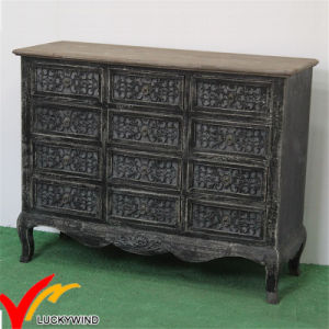 Commode Handmade Black Home Cabinet Vintage French Living Room Furniture pictures & photos