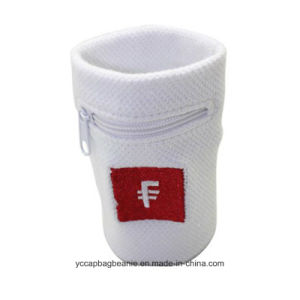 Custom Logo Embroidered White Terry Sport Wristband pictures & photos