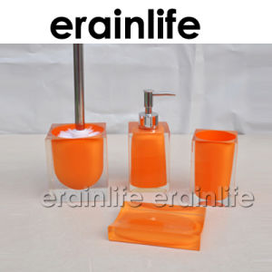 Orange Color Transparent Resin Bathroom Set