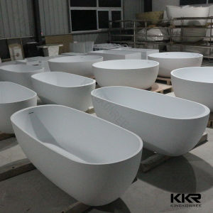 Simple Modern Black Solid Surface Free Standing Bathtub (BT170627) pictures & photos