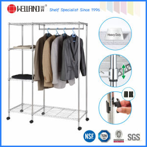 DIY Chrome Metal Bedroom Portable Wardrobe for Home (GR12045180B5R) pictures & photos