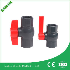 "1/2"" UPVC Union Double Check/Ball Valve Lever Handle PVC Material China Supplier Low Price for India Iran Market pictures & photos"