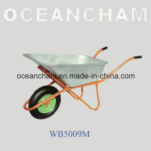 for South America Market Popular Sale Galvanize Tray Wheelbarrow