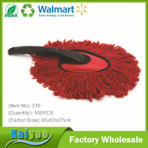 Cotton Yarn Car Window Cleaning Brush with Black Handle pictures & photos