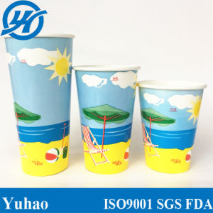 20oz Custom Printed Drinking Cup, Disposable Cup, Milkshake Cup/Paper Cups--Yhc-103 pictures & photos