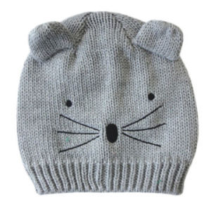 Acrylic Knitted Hat in Mouse Pattern