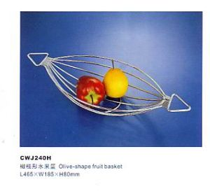 Cwj240h Kitchen Furniture Olive-Shape Fruit Basket pictures & photos