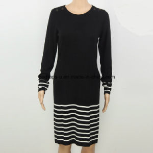 Fashion Round Neck Pullover Women Long Sweater Ladies Wear pictures & photos