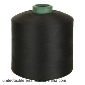 100% Polyester Dope Dyed DTY Black Yarn with 150d/48f Semi Dull Nim pictures & photos