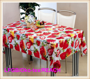 PVC Printed Transparent Table Cloth pictures & photos