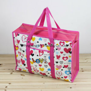 Promotion Lamianted Non Woven Polypropylene Zipper Shopping Tote Bag pictures & photos