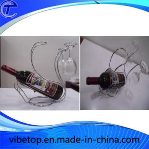 Chrome Plating Metal Wine Rack and Cup Holder pictures & photos
