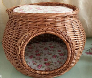 (BC-PK1007) High Quality Handmade Willow Pet Kennel pictures & photos