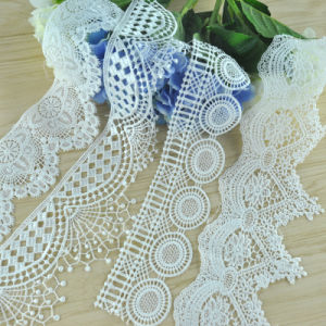 Factory Manufacturer 100% Polyester Embroidery Lace Trim/Textile Lace Trim pictures & photos