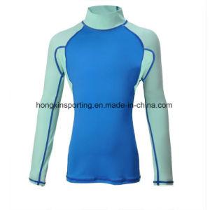 Lycra Long Sleeve Rash Guard/Swimwear/Sports Wear (HXR0013) pictures & photos