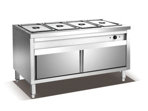 3-Pan Bain Marie Trolley with Cabinet Hbw-3 pictures & photos