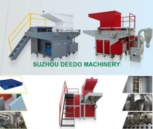 Single Shaft Shredder Line for HDPE Pipe pictures & photos