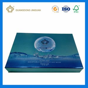 Custom Facial Mask Paper Packaging Gift Box with UV Printing on Silver Wrap Paper as Display Box pictures & photos