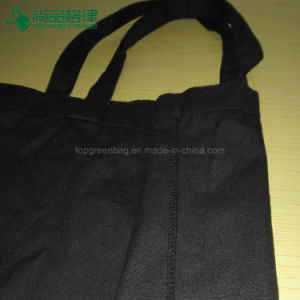 Wholesale 100% Cotton Shopping Bag Custom Black Canvas Tote Bag pictures & photos