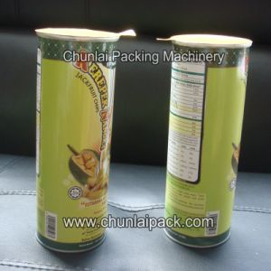 Composite Canisters Potato Chips Sealing Machine pictures & photos