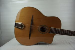 Aiersi Oval Hole Solid Cedar Top Gypsy Acoustic Guitar pictures & photos