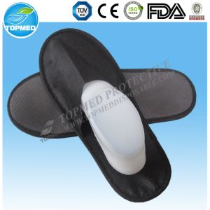 Cheaper Disposable Polyester Terry Towel EVA Sole Hotel Slippers pictures & photos