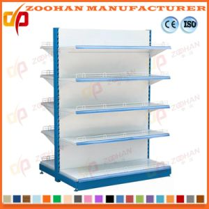Supermarket Gondola Double Sides Display Shelf with Top Light (ZHs656) pictures & photos