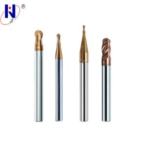 Solid Carbide HRC55 4 Flute Ball Nose End Mills with Tixco Coated pictures & photos