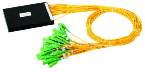 Fiber Optic Splitter 1X2, 1X4, 1X8, 1X16, 1X32, 1X64 1u Rack Mount Type PLC Splitter pictures & photos