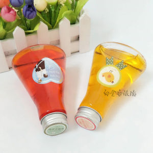 New Design 250ml 500ml Glass Beverage Bottles for Juice, Milk Glass Bottles with Straw and Lid pictures & photos