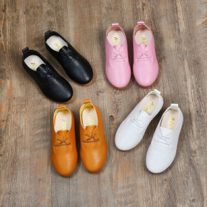 Soft Sole Leather Baby Infant Toddler Kids Children Gift Cow White Shoes pictures & photos
