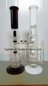 Glass Water Pipe with Double Pink Matrix Percs 1.3kg --Mix Colors pictures & photos