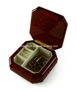 Beveled Wooden Jewelry Box Floral Motifs Gift Packaging Box pictures & photos