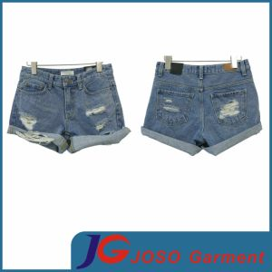 Girls Ripped Jeans Mini Shorts (JC6060) pictures & photos