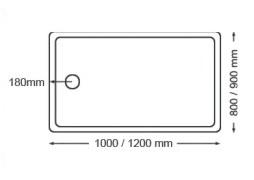 Rectangle-Shaped Acrylic Shower Tray Xy-004