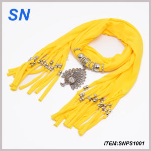 Fashion Peacock Jewelry Scarves (SNPS1001) pictures & photos