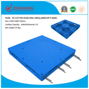 Heavy Duty Flat Double Sides Welding Plastic Pallet (ZG-1210 8 steels) pictures & photos