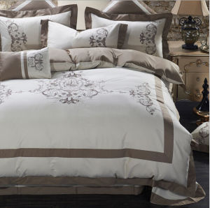 High-Grade Pure Cotton Embroidered Twill Bedding Set pictures & photos