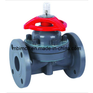 Flanged Type CPVC Plastic Diaphragm Valve (G41F-10) pictures & photos