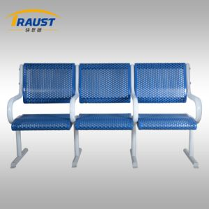 Outdoor Leisure Bench with 3 Seats Backrest and Armrest pictures & photos