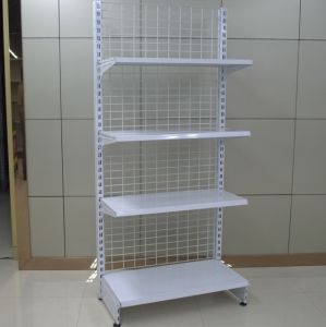 Supermarket Back Wire Mesh Display Steel Wall Shelf pictures & photos