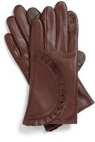 Brown Leather Glove for Fashion Lady Short Style (WTS862)