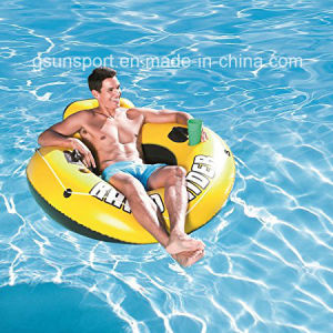 "Yellow Rider Inflatable Snow Tube, 53"" pictures & photos"
